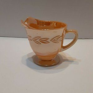 Vintage Fire King Peach Lustre Laurel Leaf Creamer